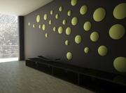 Гипсовая 3D панель «Круги сферические»